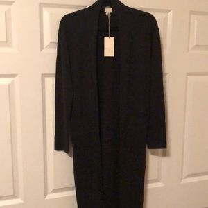 NWT black open cardigan by a new day